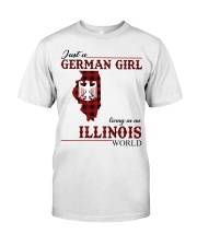 Just A German Girl In Illinois World Classic T-Shirt front