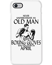 Never Underestimate Old Man Boxing Gloves April Phone Case thumbnail