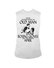 Never Underestimate Old Man Boxing Gloves April Sleeveless Tee thumbnail