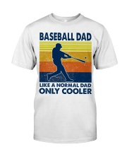 Baseball Dad Like A Normal Dad Only Cooler Classic T-Shirt tile