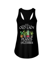 Never Underestimate Old Lady Love Plants December Ladies Flowy Tank thumbnail