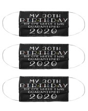 My 30th Birthday The One Where I Was 30  years old Cloth Face Mask - 3 Pack thumbnail