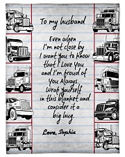 """Trucker to my husband Personalized Small Fleece Blanket - 30"""" x 40"""" front"""