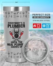Plumber- Personalized Christmas Gift 20oz Tumbler aos-20oz-tumbler-lifestyle-front-47
