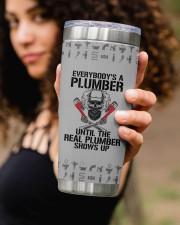 Plumber- Personalized Christmas Gift 20oz Tumbler aos-20oz-tumbler-lifestyle-front-93