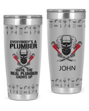 Plumber- Personalized Christmas Gift 20oz Tumbler front