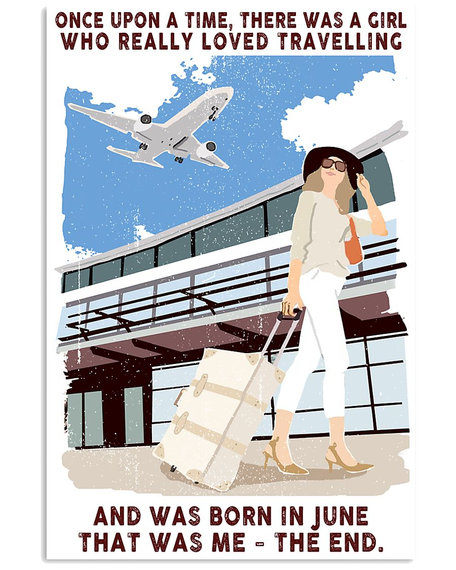June Girl Loves Travelling 24x36 Poster