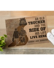 "Doormat-An Old Trucker And The Ride Personalized Doormat 22.5"" x 15""  aos-doormat-22-5x15-lifestyle-front-11"