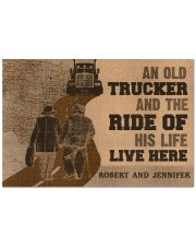 "Doormat-An Old Trucker And The Ride Personalized Doormat 22.5"" x 15""  front"
