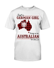 Just A German Girl In Australian World Classic T-Shirt front