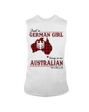 Just A German Girl In Australian World Sleeveless Tee thumbnail