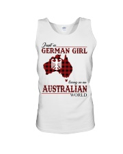 Just A German Girl In Australian World Unisex Tank thumbnail