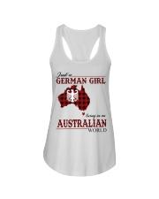Just A German Girl In Australian World Ladies Flowy Tank thumbnail