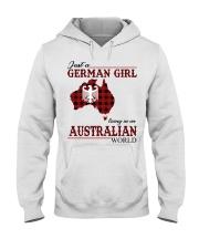 Just A German Girl In Australian World Hooded Sweatshirt thumbnail