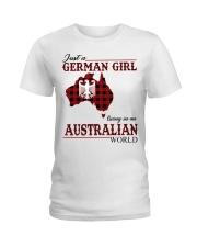 Just A German Girl In Australian World Ladies T-Shirt thumbnail