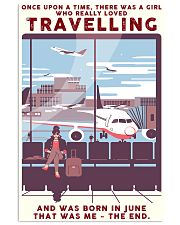 Girl Loves Travelling Born In June 24x36 Poster front
