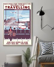Girl Loves Travelling Born In June 24x36 Poster lifestyle-poster-1