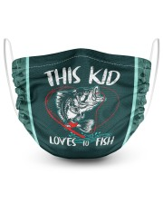 This Kid Loves To Fish 2 Layer Face Mask - Single front