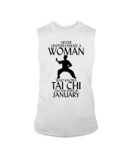 Never Underestimate Woman Tai Chi January  Sleeveless Tee thumbnail