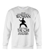 Never Underestimate Woman Tai Chi January  Crewneck Sweatshirt thumbnail