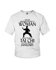 Never Underestimate Woman Tai Chi January  Youth T-Shirt thumbnail