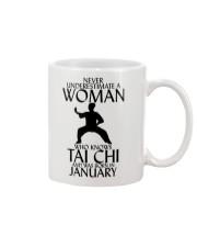 Never Underestimate Woman Tai Chi January  Mug thumbnail
