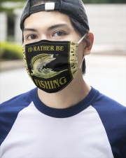 I'D Rather BE Fishing  3 Layer Face Mask - Single aos-face-mask-3-layers-lifestyle-front-14