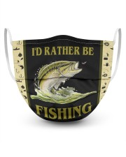 I'D Rather BE Fishing  3 Layer Face Mask - Single front