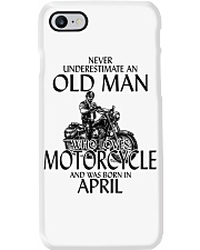 Never Underestimate Old Man Motorcycle April Phone Case thumbnail