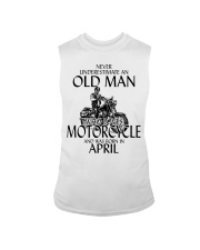 Never Underestimate Old Man Motorcycle April Sleeveless Tee thumbnail
