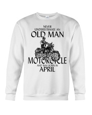 Never Underestimate Old Man Motorcycle April Crewneck Sweatshirt thumbnail