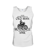 Never Underestimate Old Man Motorcycle April Unisex Tank thumbnail