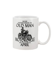 Never Underestimate Old Man Motorcycle April Mug thumbnail