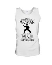 Never Underestimate Woman Tai Chi September  Unisex Tank thumbnail