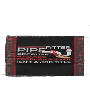 Fitter Pipe Because Badass Problem Solver Cloth face mask thumbnail