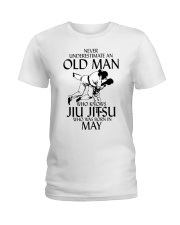 Never Underestimate Old Man Jiu Jitsu May Ladies T-Shirt tile