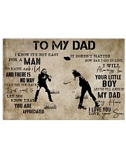 To My Dad From Son football 24x16 Poster front