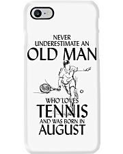 Never Underestimate Old Man Loves Tennis August Phone Case thumbnail