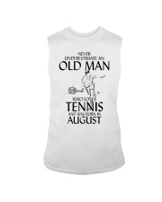 Never Underestimate Old Man Loves Tennis August Sleeveless Tee thumbnail
