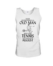Never Underestimate Old Man Loves Tennis August Unisex Tank thumbnail