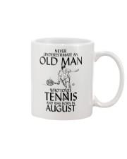 Never Underestimate Old Man Loves Tennis August Mug thumbnail
