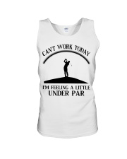 Golf Can't Work Today Unisex Tank thumbnail