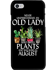 Never Underestimate Old Lady Love Plants August Phone Case thumbnail