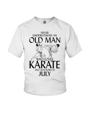 Never Underestimate Old Man Karate July Youth T-Shirt thumbnail
