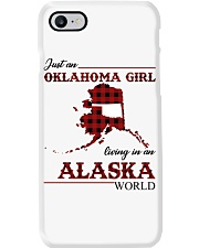Oklahoma Girl Living In Alaska Phone Case tile