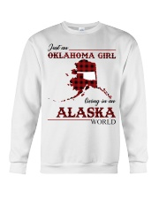 Oklahoma Girl Living In Alaska Crewneck Sweatshirt thumbnail