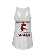 Oklahoma Girl Living In Alaska Ladies Flowy Tank thumbnail