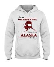 Oklahoma Girl Living In Alaska Hooded Sweatshirt thumbnail
