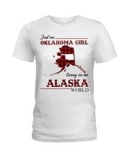 Oklahoma Girl Living In Alaska Ladies T-Shirt thumbnail