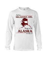 Oklahoma Girl Living In Alaska Long Sleeve Tee thumbnail